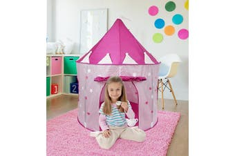(Glow in the Dark) - Click N' Play Girl's Pink Princess Castle Play Tent Features Glow In The Dark...