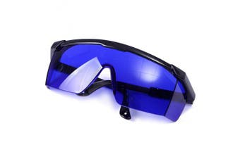 (Blue) - Hde Laser Eye Protection Safety Glasses For Red And Uv Lasers With Case Blue