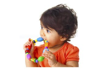 Nuby Bug-a-loop Teether, Colours May Vary