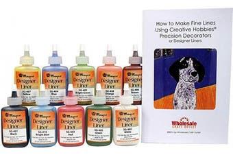 Creative Hobbies Mayco Designer Liner Ceramic Glaze Writers - 35ml Each,