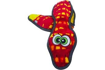 Outward Hound Invincibles Toughseamz Durable Plush Dog Toy Snake 3 Squeakers