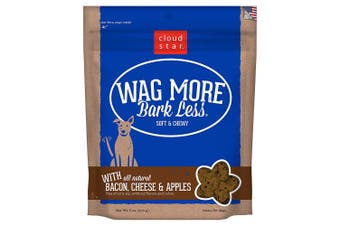 (Bacon Cheese & Apple, 180ml) - Cloud Star Wag More Bark Less Soft & Chewy Bacon, Cheese & Apples Dog Treats, 6