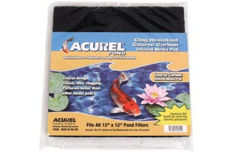 (Carbon Infused) - Acurel Coarse Media Pads for Ponds, 30cm by 30cm