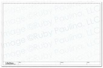 11x17 Isometric Grid Pad, White (579680) New