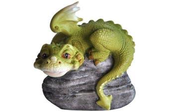 Top Collection Miniature Fairy Garden And Terrarium Hear No Evil Dragon Statue,