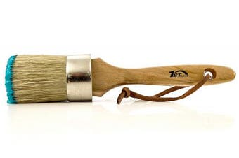 1st Place 2-in-1 Chalk Paint & Wax Pure Bristle 2 Inch Hand Made Round Brush