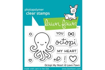 Lawn Fawn Octopi My Heart - Clear Stamp (lf1295) Or Custom Die (lf1296)