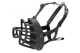 (2 - Westie, Black) - Baskerville Ultra Adjustable Dog Muzzle Basket Style Company Of Animals