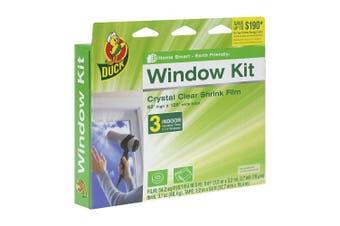 (3 Windows, Retail Packaging) - Duck Brand Indoor 3-Window Shrink Film Insulator Kit, 160cm x 320cm , 281066