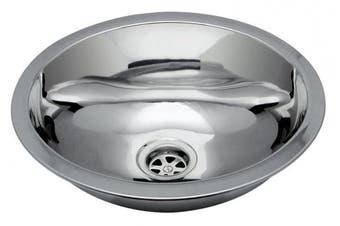 Ambassador Marine Oval Stainless Steel Round Bottom Brushed Finish Sink, 13 1/4-