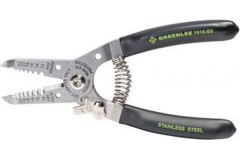 (Stainless Wire Stripper and Cutter, 10-20AWG) - Greenlee 1916-ss Stainless Wire Stripper And Cutter, 10-20awg, 15cm New