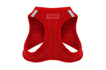 (Small, Red Corduroy) - Best Rated Voyager Step-in Harness For Pets With Plush Fleece Lining By Best Pet