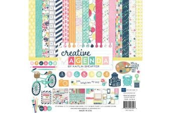 Echo Park Paper Company Creative Agenda Collection Scrapbooking Kit, New, Free S