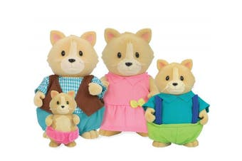 Li'l Woodzeez Whiskerelli Cat Family Set With Storybook