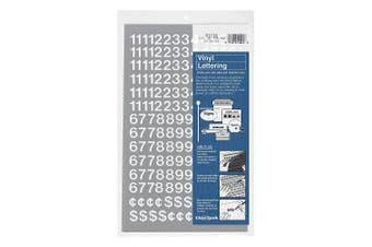 (1.3cm  High, White) - Vinyl Numbers 1.3cm White