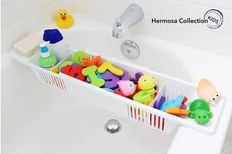 Hermosa Collection Kids #1 Rated Bath Toy Organiser & Bathtub Storage Basket