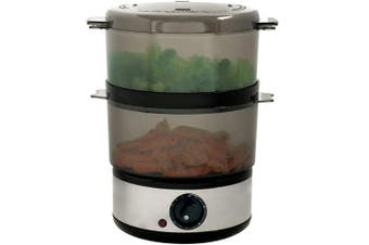 Chef Buddy 72-9093 400-watt Stainless Steel Food Steamer 3.8l, New
