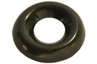100 #8 Countersunk Finish Washer Black Zinc Plated Brass, New,  .