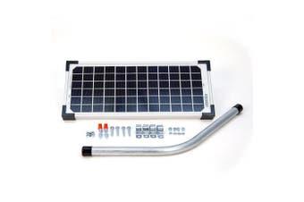 10 Watt Solar Panel Kit (fm123) For Mighty Mule Automatic Gate Openers, New, Fre