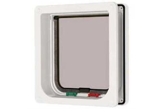 Cat Mate 4 Way Locking Cat Flap With Door Liner White, New,  .