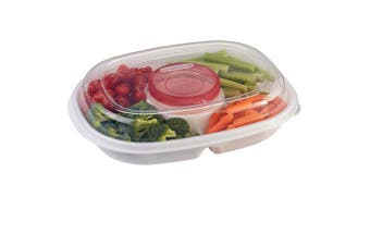 Rubbermaid Party Platter, Clear 1910335