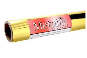 Grafix Gold Metallic Foil Paper Roll 70cm -by-6-Feet
