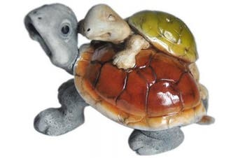 Top Collection Enchanted Story Fairy Garden Tortoise With Baby Outdoor Statue