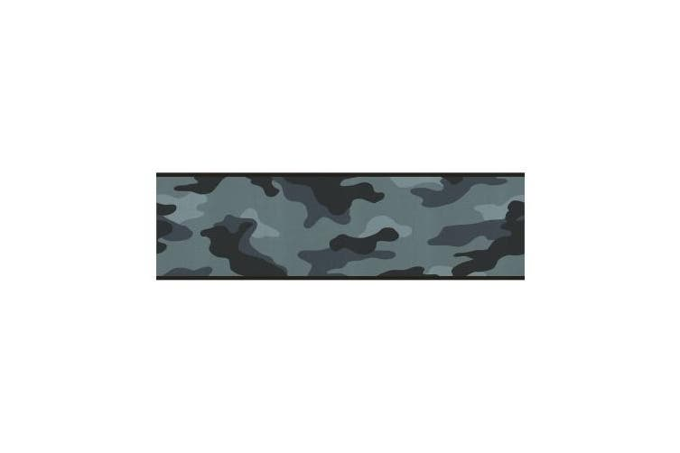 Camouflage Camo Wallpaper Wall Border - Blue
