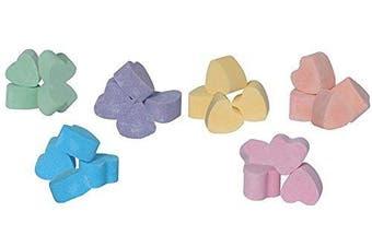 (Hearts) - 60 x mini bath bomb hearts, assorted fragrances