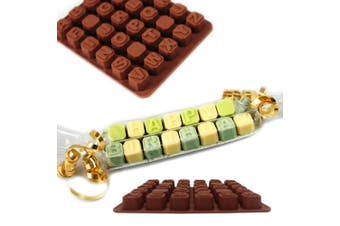 MYNC - UK Chocolate A-Z Letters Design Shape Silicone Fondant Mould Jelly Ice Cubes Desserts DIY Decorating Moulds Baking Bakeware