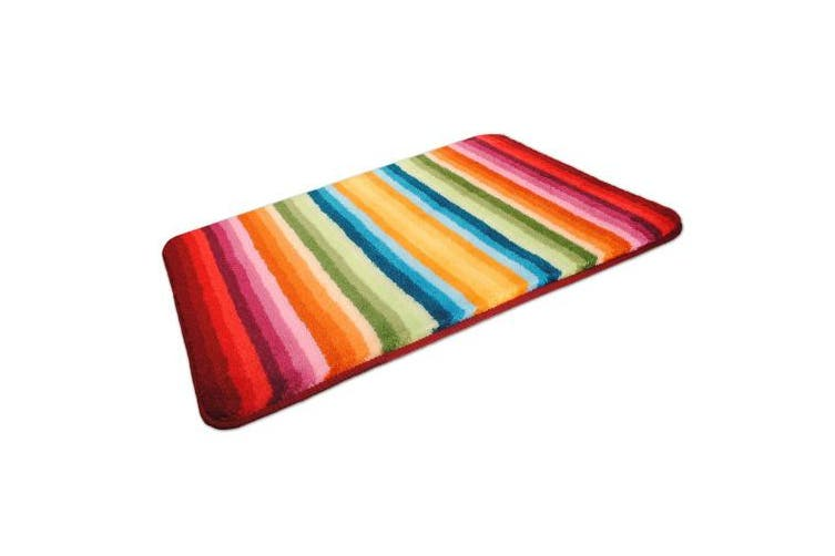 (90X60cm Rectangular) - MS 'Funkee' Luxury Soft Multicolour Bathroom Mat - Bath Rug (90X60cm Rectangular)