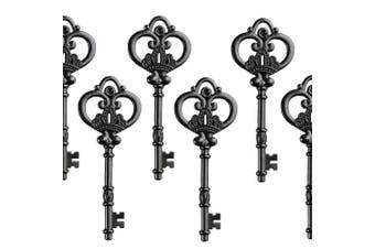 (Gunblack) - Aokbean Mixed Set of 20 Extra Large Antique Gunblack Finish Skeleton Keys in Antique Style - Set of 20 Keys (Gunblack)