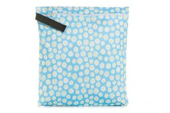 (Medium, Boom) - Buttons Cloth Nappies Waterproof Washable Reusable Zippered Laundry Wet Bag (Medium, Boom)