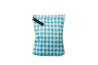 Buttons Cloth Nappies Waterproof Washable Reusable Zippered Laundry Wet Bag (Medium, Picnic)