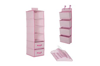 Delta Children Complete Nursery Organisation 12-Piece Set, Barely Pink