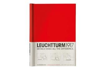 (Red) - LEUCHTTURM1917 341740 Sprinback binder PEKA, for 150 Sheets, Red