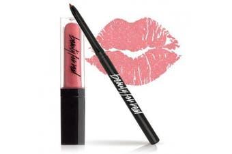 (KISS ME) - Beauty For Real Lip Kit - Lip Gloss + Lip Liner Set - 2 Piece Kit (KISS ME)