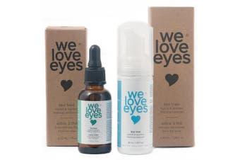 We Love Eyes: Makeup Removal Kit (Makeup Remover Oil & Eyelid Foaming Cleanser)