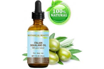 SQUALANE Italian. 100% Pure / Natural / Undiluted Oil. 100% Ultra-Pure Moisturiser for Face , Body & Hair. Reliable 24/7 skincare protection. 1 fl.oz- 30ml. by Botanical Beauty.