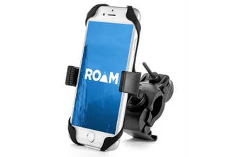 (Matte Black) - Roam Universal Premium Bike Phone Mount for Motorcycle - Bike Handlebars, Adjustable, Fits iPhone 6s | 6s Plus, iPhone 7 | 7 Plus, Galaxy S7, S6, S5, Holds Phones Up To 8.9cm Wide