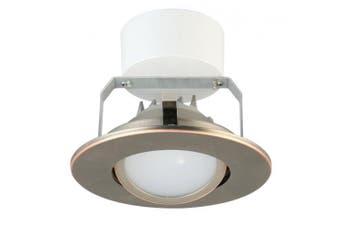 (Flat Style - Higher Lumen, 10cm , Oil-Rubbed Bronze) - Lithonia Lighting 10cm LED Gimbal, Oil Rubbed Bronze, Higher Lumen Version