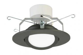 (Flat Style - Higher Lumen, 15cm , Matte Black) - Lithonia Lighting 15cm LED Gimbal, Matte Black, Higher Lumen Version