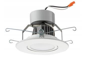 (Flat Style - Higher Lumen, 13cm , Matte White) - Lithonia Lighting 13cm LED Gimbal, Matte White, Higher Lumen Version