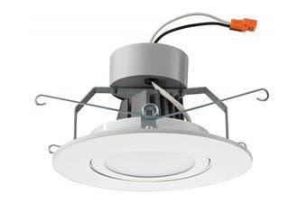 (Flat Style - Higher Lumen, 15cm , Matte White) - Lithonia Lighting 15cm LED Gimbal, Matte White, Higher Lumen Version