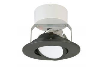 (Flat Style - Higher Lumen, 10cm , Matte Black) - Lithonia Lighting 10cm LED Gimbal, Matte Black, Higher Lumen Version