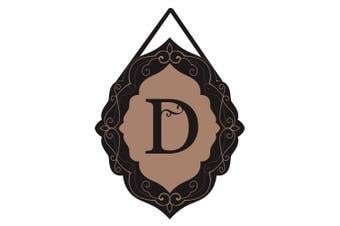 (D) - Evergreen Classic Monogram D Burlap Door Decor