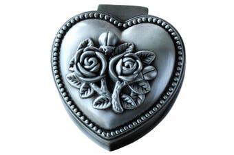 (Heart) - Aimeio Vintage Jewellery Box Metal Treasure Box Antique Love Heart Shape Metal Jewellery Box Princess Jewellery Makeup Organiser Birthday Gift (Love Heart)