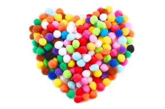 Caydo 240 Pieces 2.5cm Pom Poms for Hobby Supplies and DIY Creative Crafts Decorations, Assorted Colours