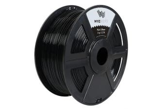 (Black) - WYZworks PLA 1.75mm [ BLACK ] Premium Thermoplastic Polylactic Acid 3D Printer Filament - Dimensional Accuracy +/- 0.05mm 1kg / 2.2lb + [ Multiple Colour Options Available ]