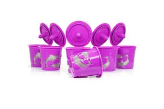 (Purple) - BRBHOM 6 Reusable K Cups Refillable Capsules Coffee Filter Pod For Keurig 2.0, K200, K250, K300, K350, K400, K450, K460, K500, K550, K560 and 1.0 Brewers